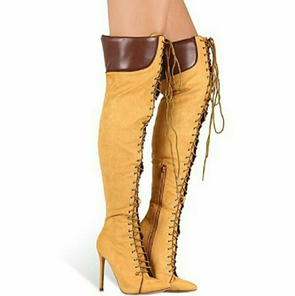 100% satisfaction guarantee largest selection of 2019 designer fashion Timberland like thigh high boots